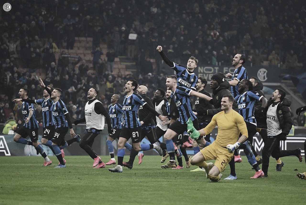 Inter celebra su gran remontada / Foto: @Inter en twitter
