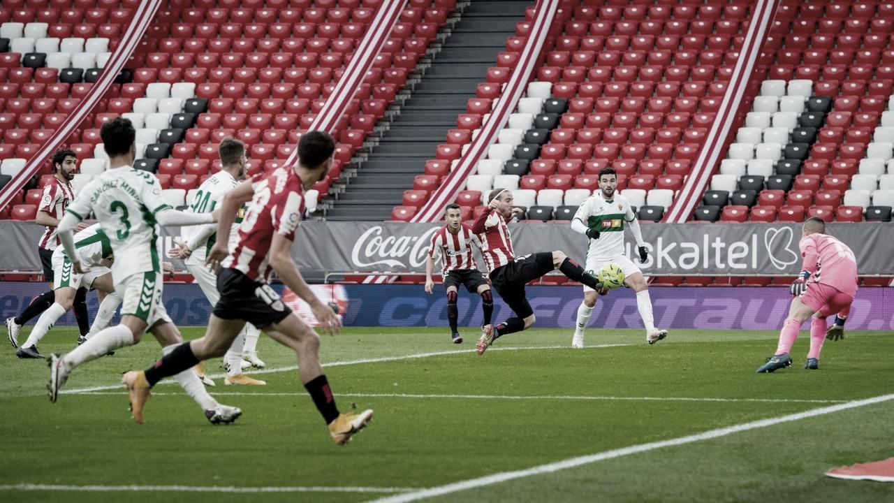 Resumen Athletic Club vs Elche CF en LaLiga 20/21 (1-0)