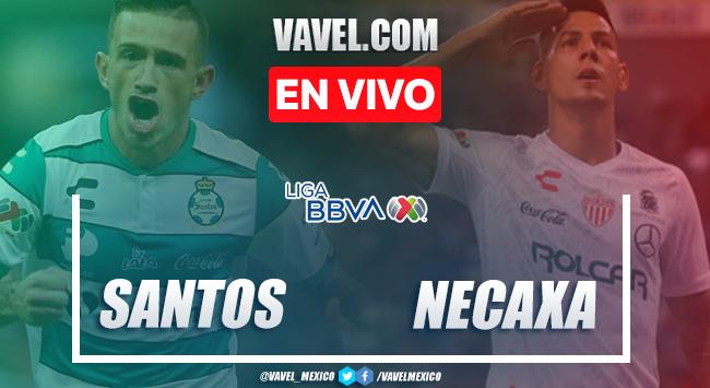 Goles y Resumen del Santos 2-1 Necaxa en Liga MX 2020