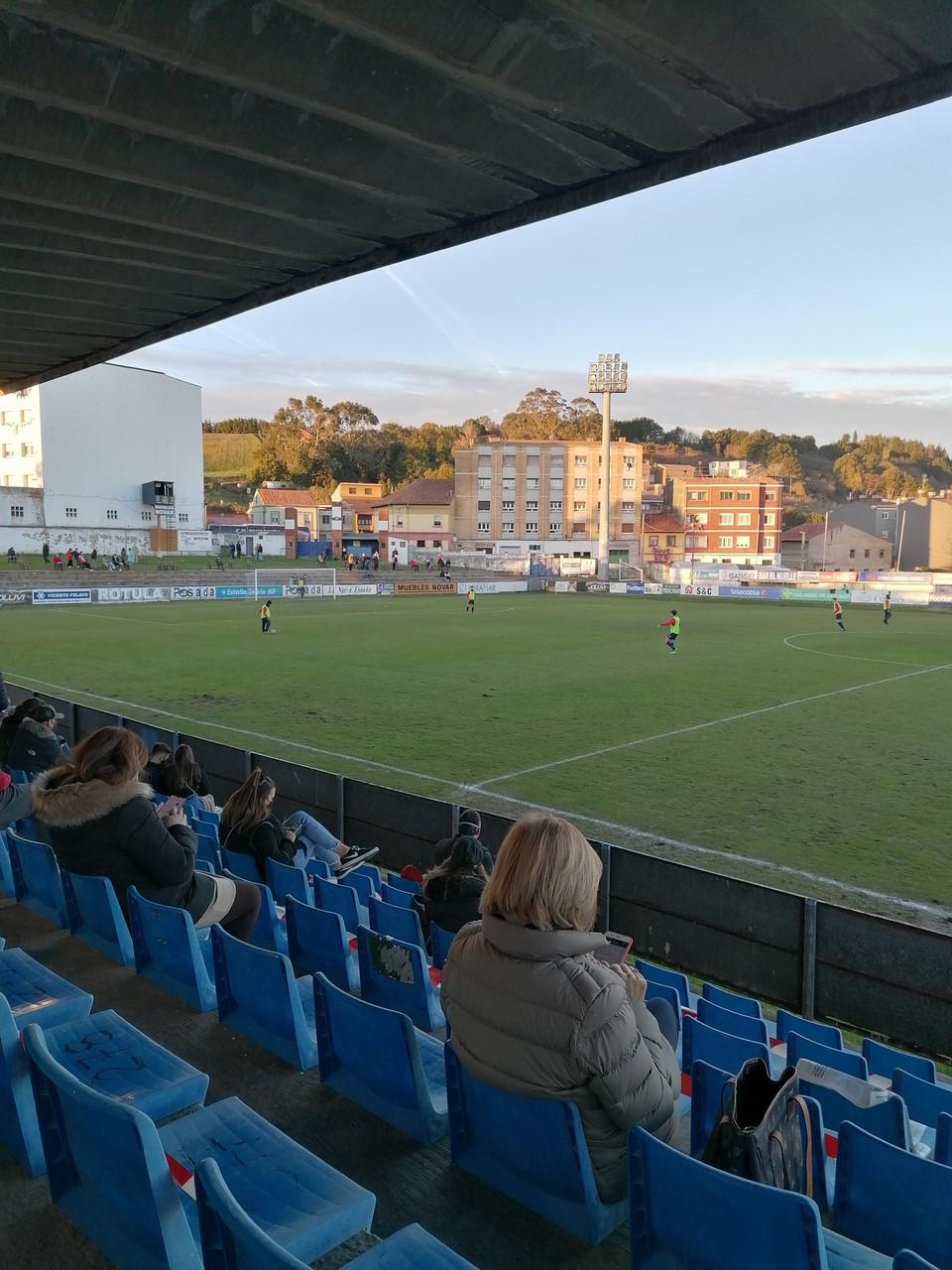 El Numancia perdió en Luanco. Imagen: Marino de Luanco.
