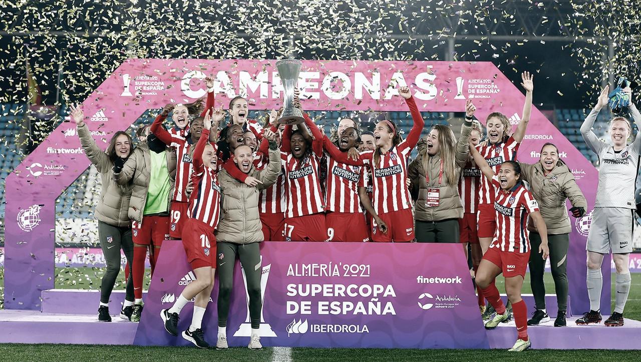 El Atlético de Madrid femenino, ganadoras de la Supercopa de España
