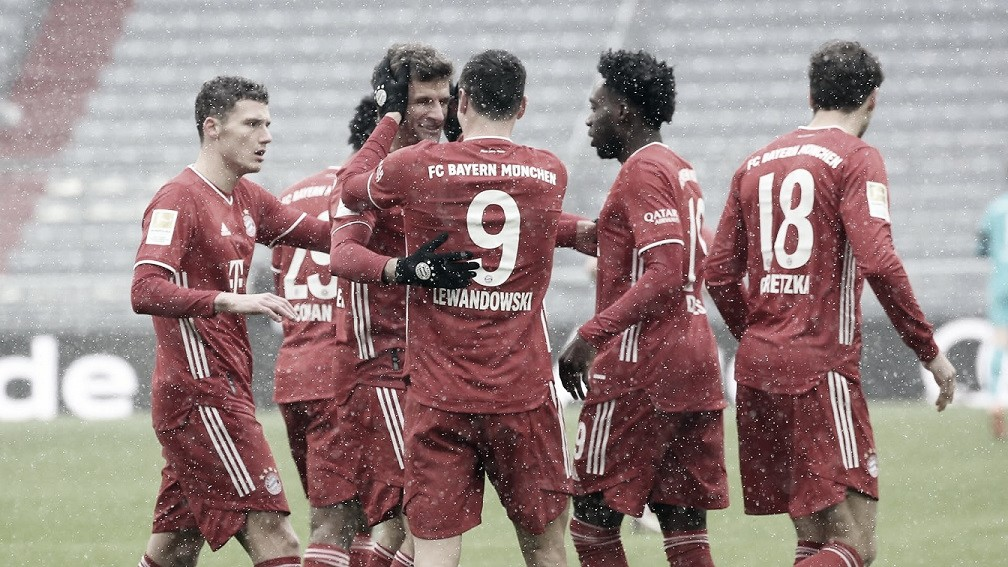 Con goles de Lewandowski yMüller, el Bayern consiguió la ansiada victoria. / Twitter: Bayern Múnich oficial