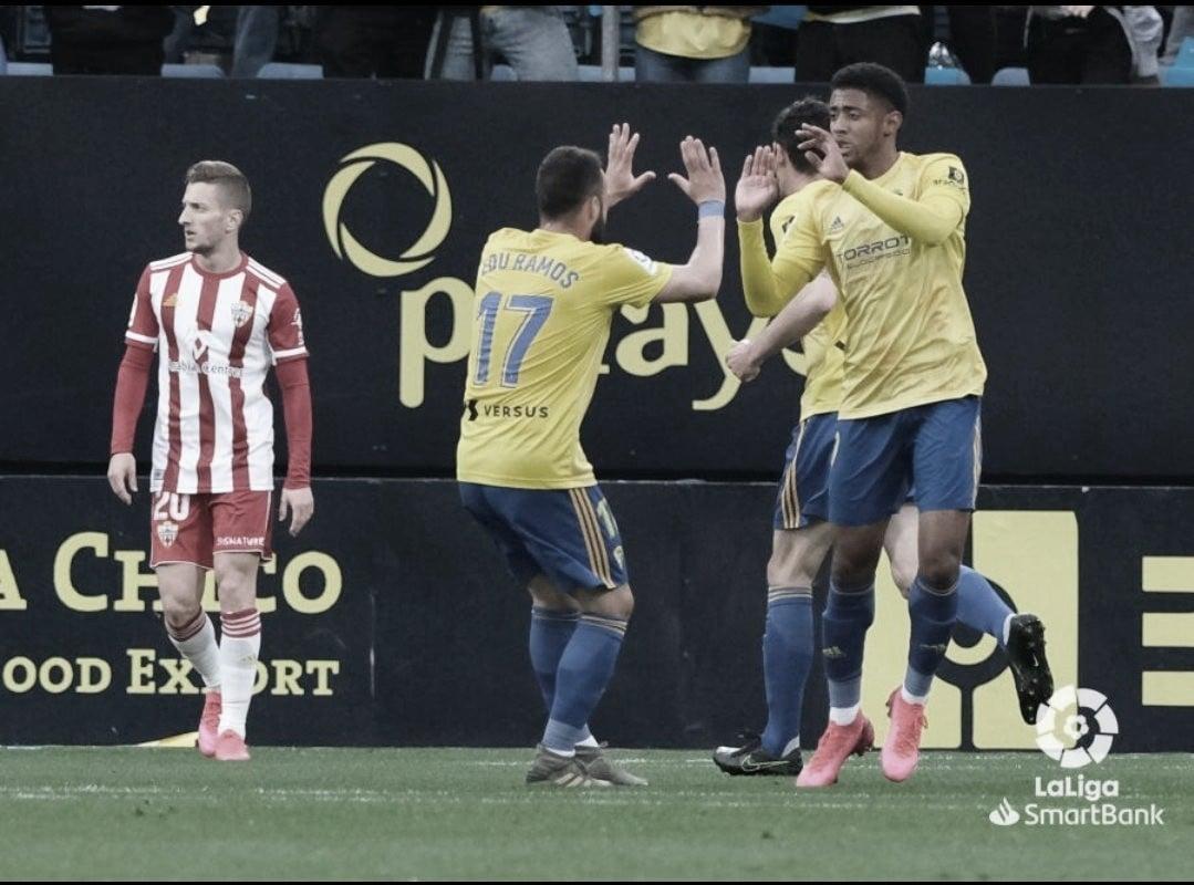 Puntuaciones Cádiz CF-UD Almería