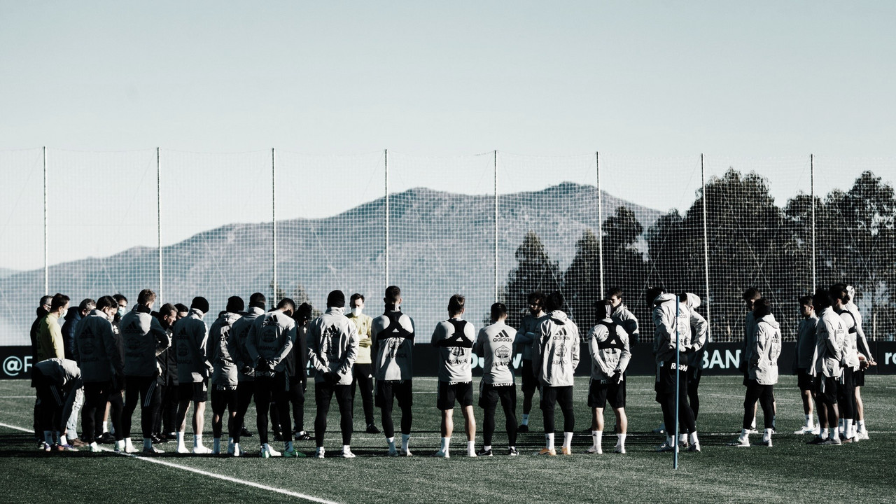 La plantilla durante un entrenamiento | Fuente: RC Celta