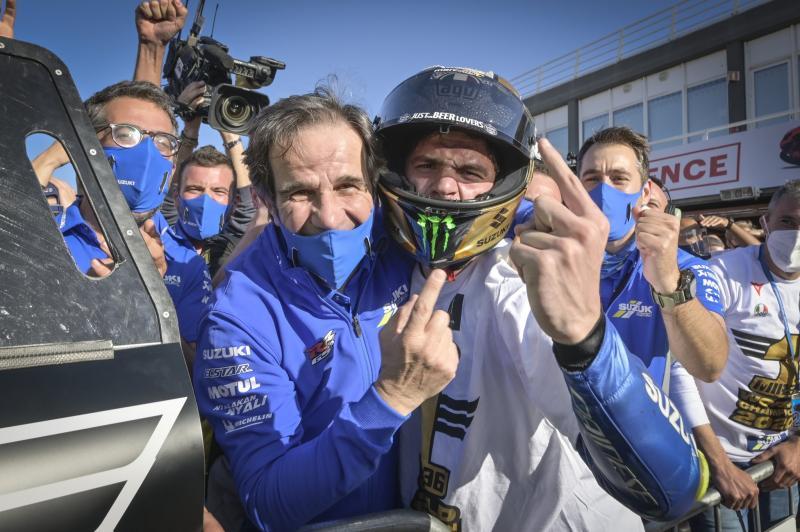 Davide Brivio y Joan Mir, el día que se proclamó campeón del mundo | Fuente: Instagram del piloto