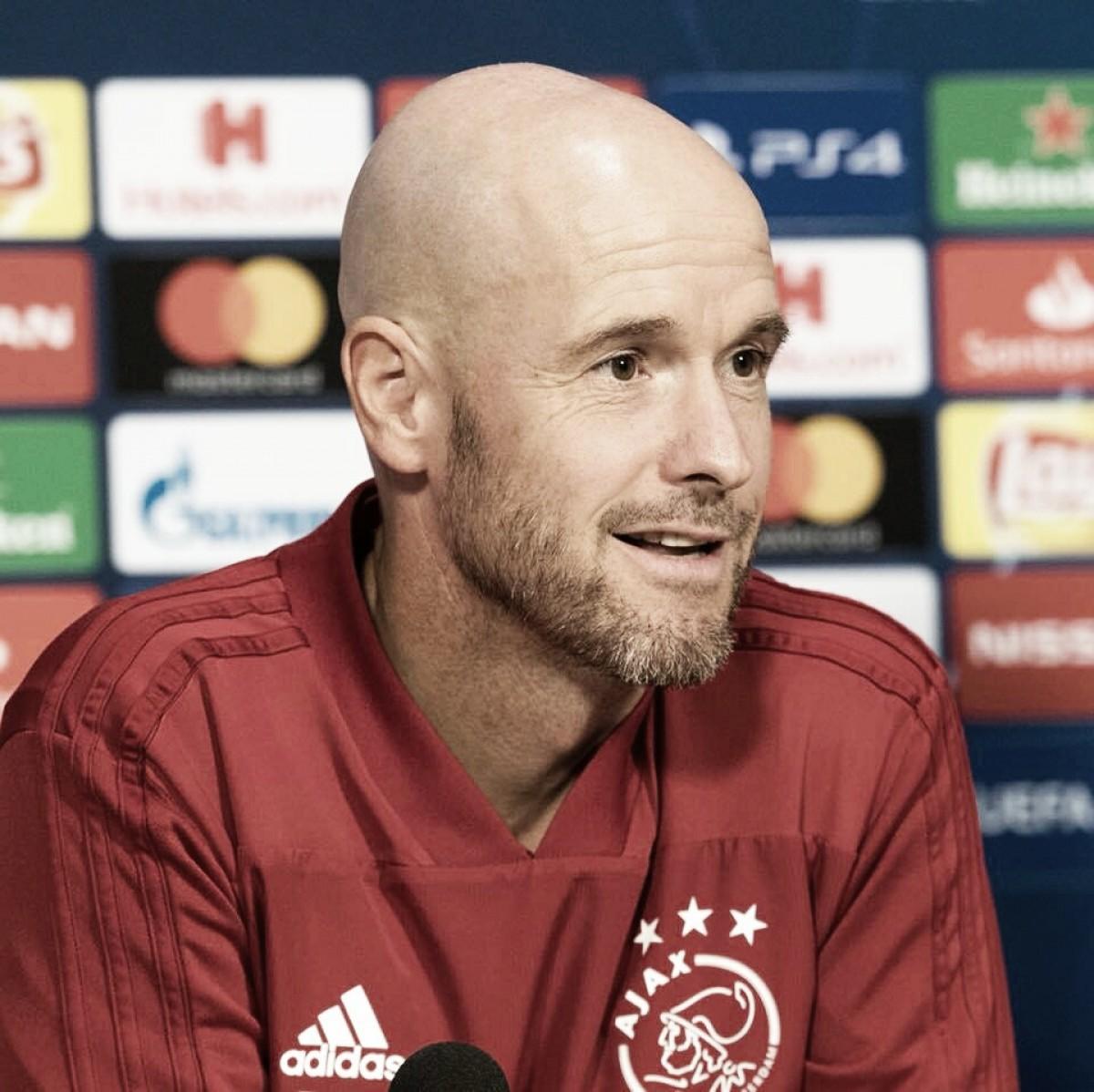 """Erik ten Hag afirma que Ajax precisa melhorar após classificação: """"Ainda não é um prêmio"""""""
