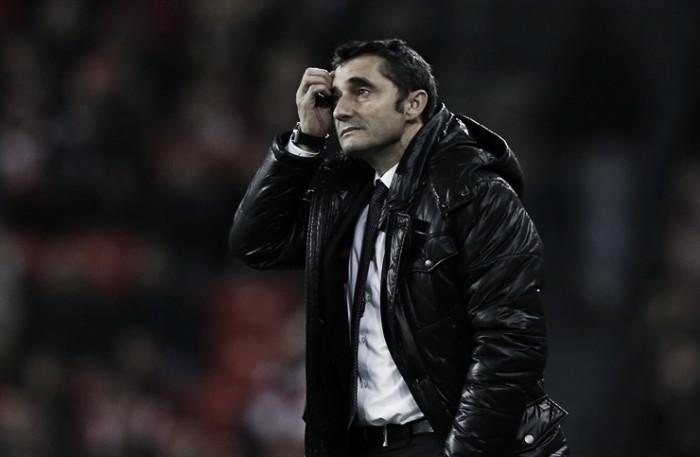 Ernesto Valverde ya consiguió puntuar en el Camp Nou