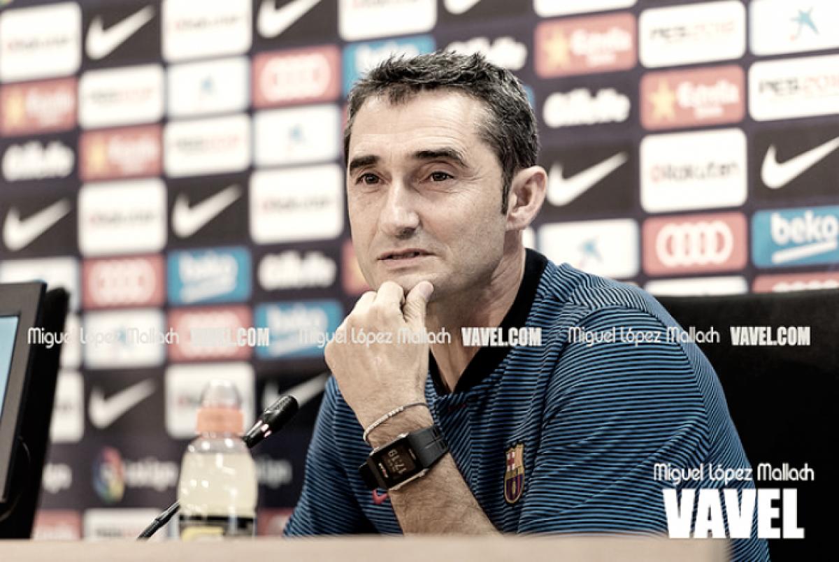 Depois da goleada, Ernesto Valverde rasga elogios ao ataque do Barcelona