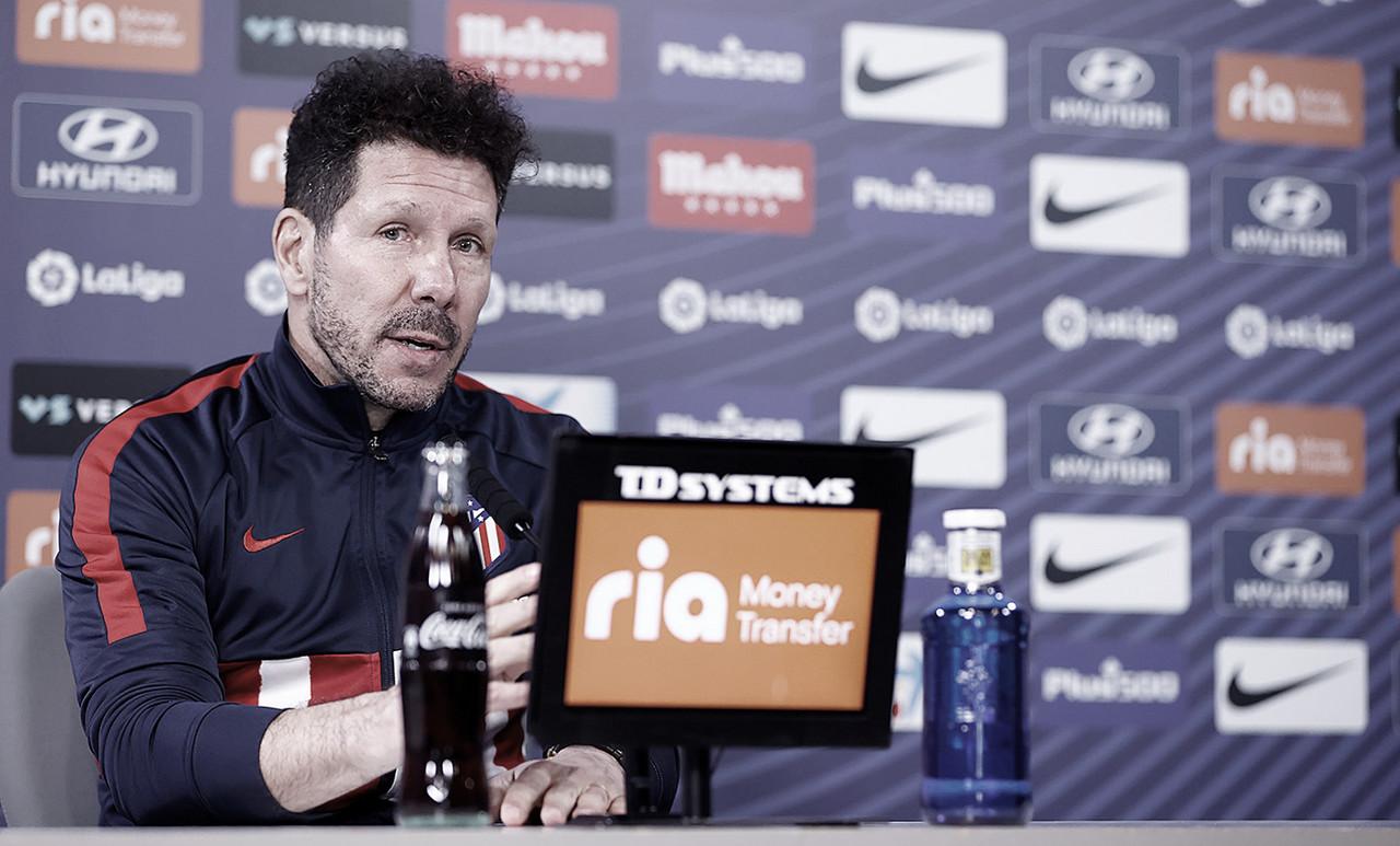 """Simeone: """"Yo estoy muy feliz en el Atlético de Madrid"""""""