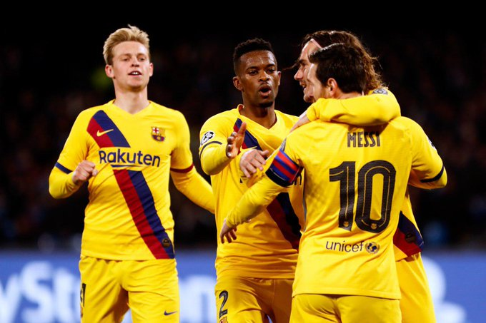 Griezmann risponde a Mertens: 1-1 tra Napoli e Barcellona