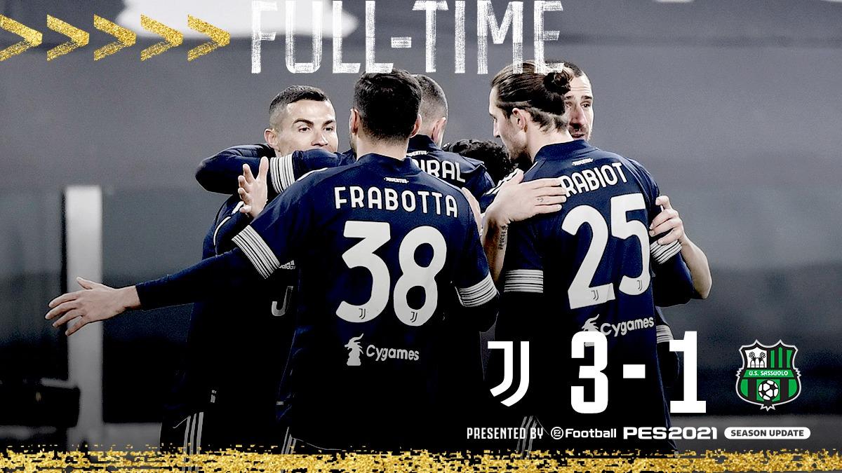 La Juventus batte il Sassuolo e si prepara all'Inter