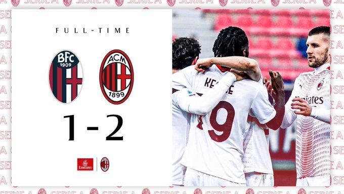 Serie A - Il Milan soffre contro il Bologna ma torna alla vittoria