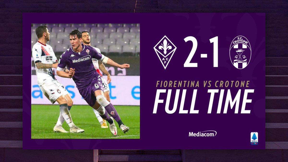 La Fiorentina vede la salvezza: per il Crotone sconfitta 2-1 e baratro vicino