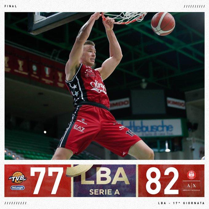 LBA- Treviso ci prova, ma alla fine la spunta Milano (77-82)