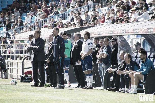 Juan Esnáider debuta con el Real Zaragoza