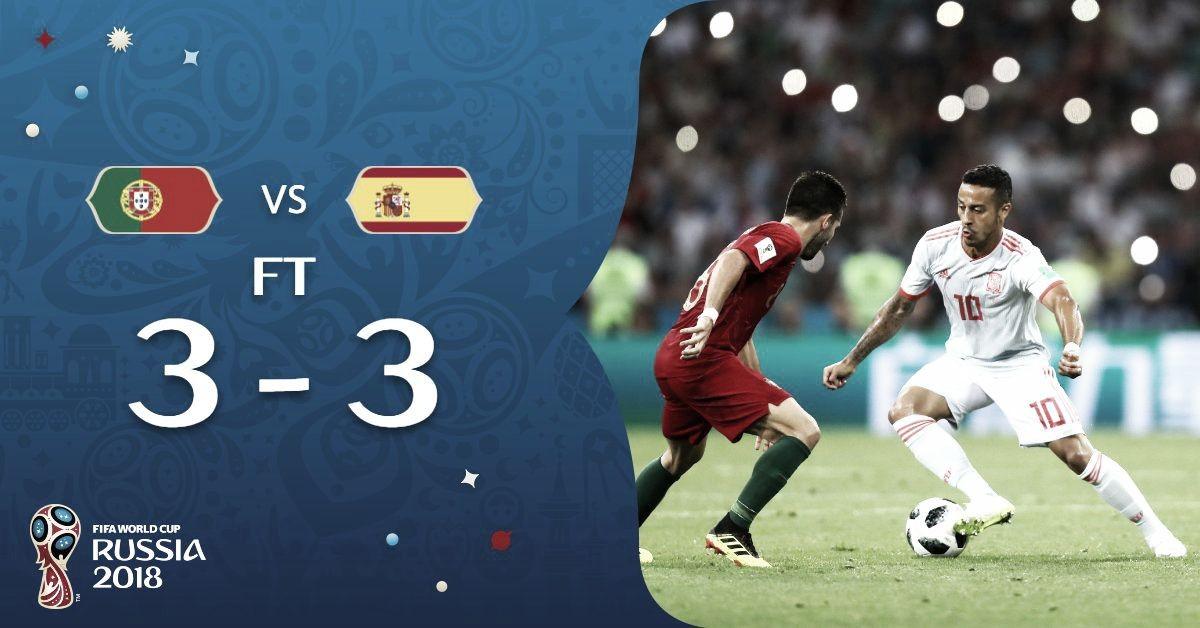 Sin efecto Lopetegui, España igualó contra Portugal