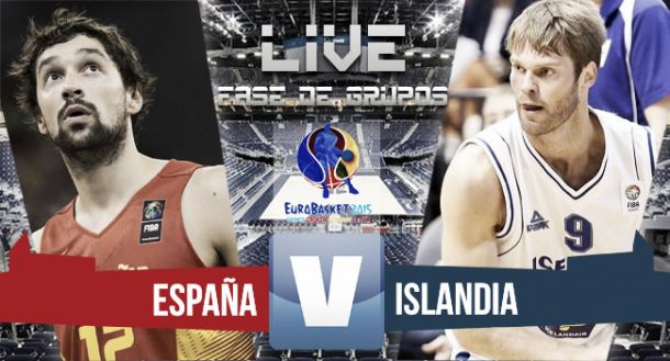 Resultado España - Islandia en Eurobasket 2015 (99-73)