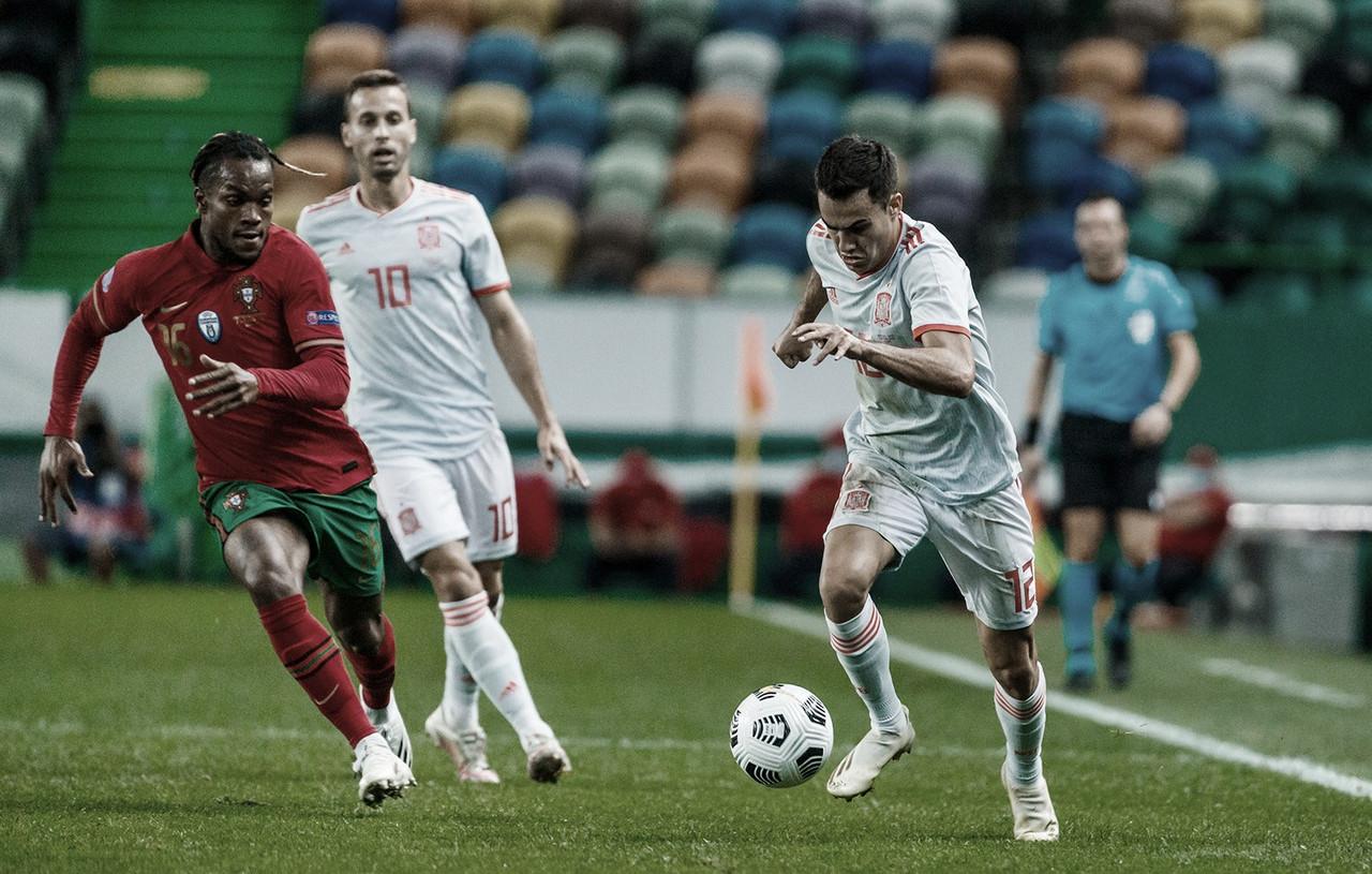 Portugal e Espanha param no travessão e ficam no empate em Lisboa