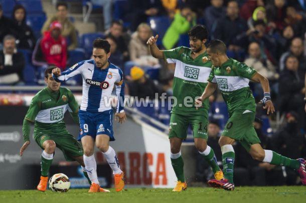 Espanyol - Elche: puntuaciones del Espanyol, jornada 29 de Liga BBVA