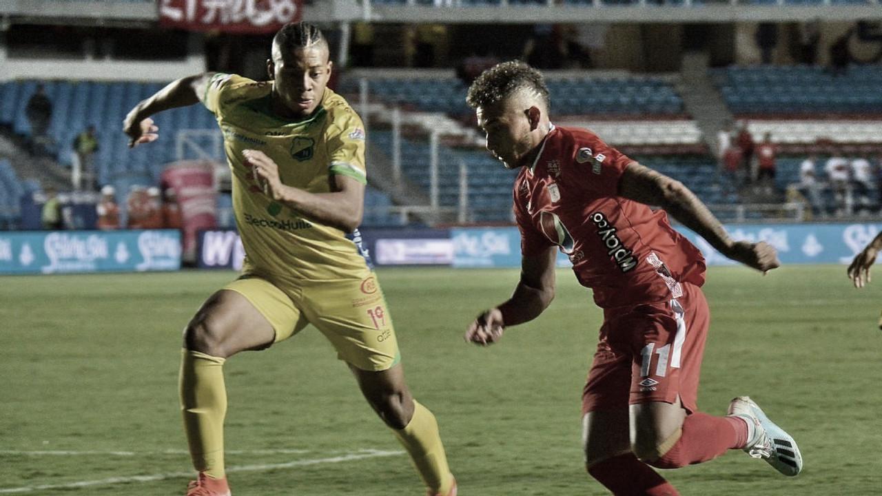 Datos de la derrota de América 0-1 ante Huila en el Pascual