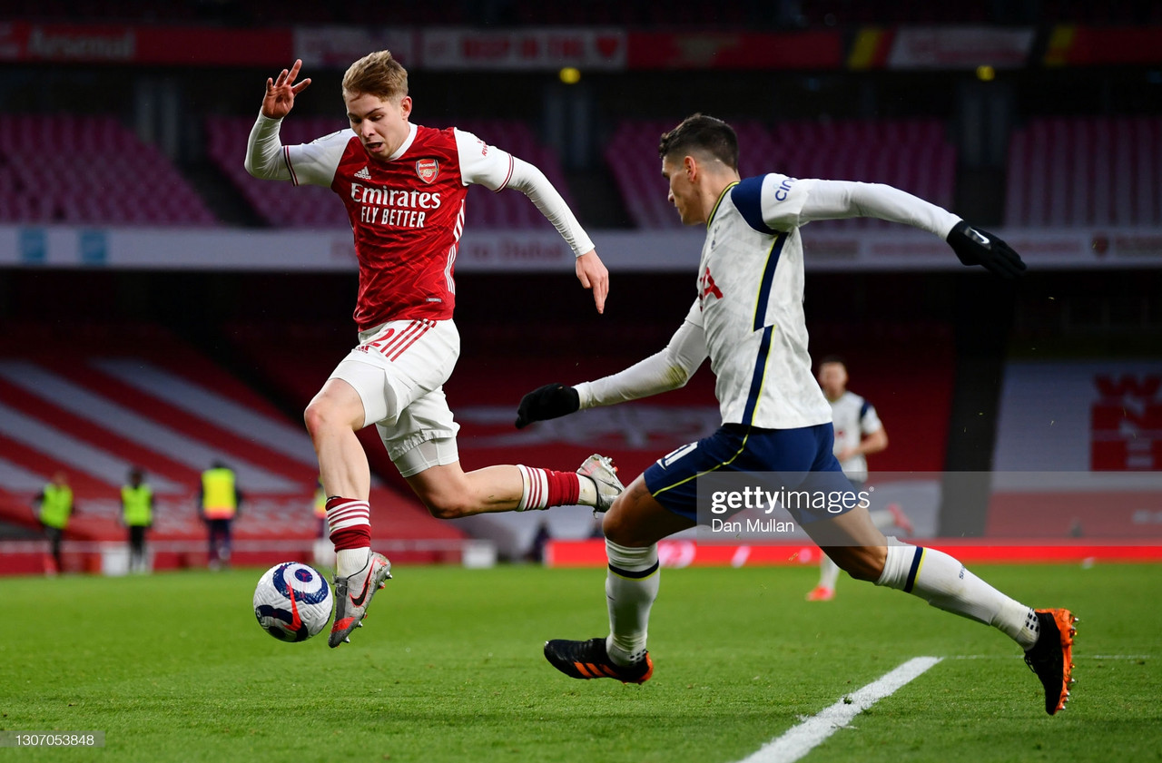 Emile Smith Rowe rewarded for fine form after first England Under-21 call up