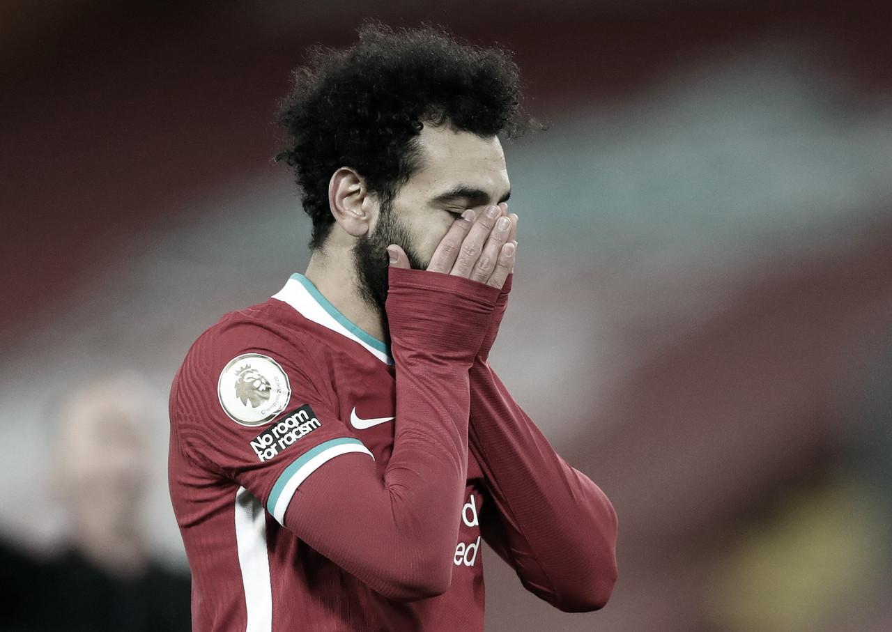 La ineficiencia de Salah ha sido una de las condenas del Liverpool / FOTO: Premier League