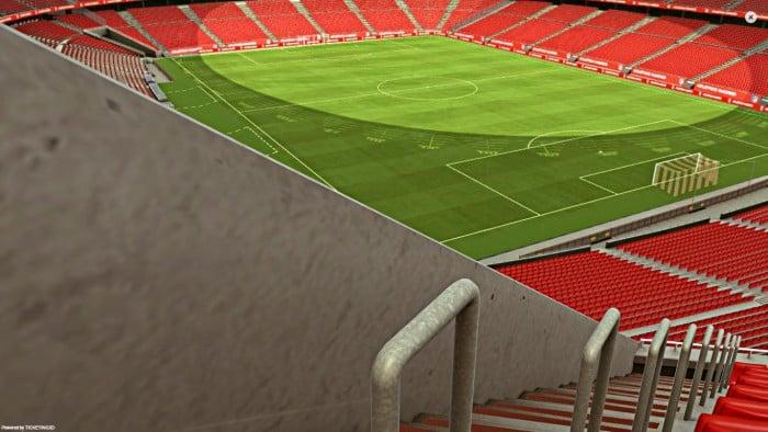 Un estadio nuevo... con asientos sin visibilidad