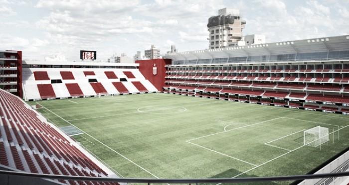 Así esta el estadio de Estudiantes hoy.