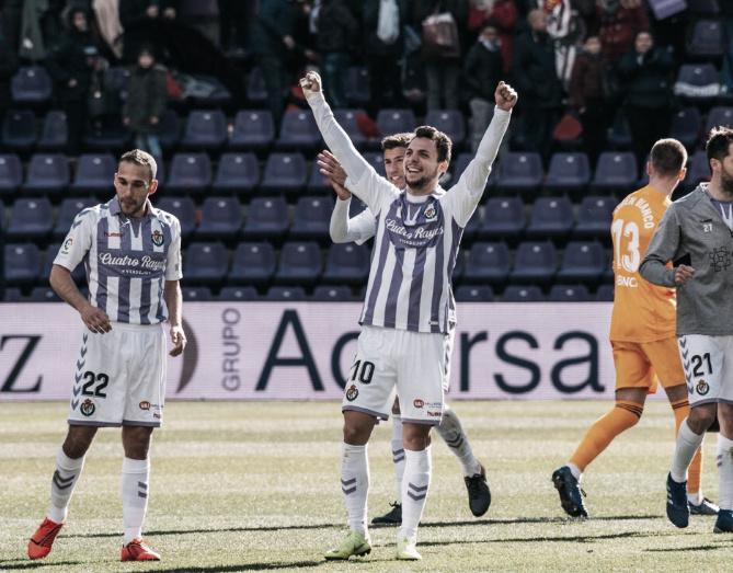 El Real Valladolid se sitúa a tres puntos del descenso