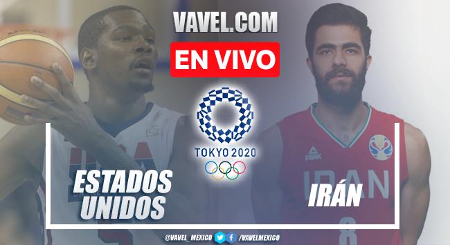 Resumen y mejores momentos del Estados Unidos 120-66 Irán en Tokio 2020