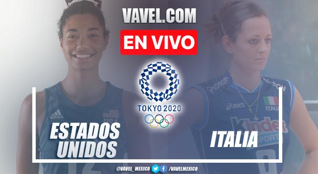 Resumen y mejores momentos del Estados Unidos 3-2 Italia en Voleibol Femenil de Tokio 2020