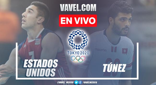 Resumen y mejores momentos del Estados Unidos 3-1 Túnez en Voleibol Varonil en Tokio 2020