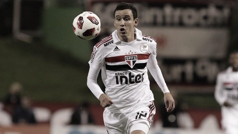 """Atacante Pablo analisa estreia pelo São Paulo:""""Eu me senti bem, confortável com essa camisa"""""""