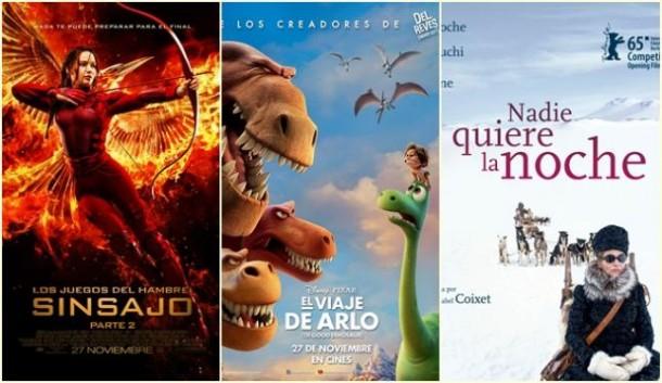 'Sinsajo - Parte 2' y 'El Viaje de Arlo', grandes estrenos de esta semana