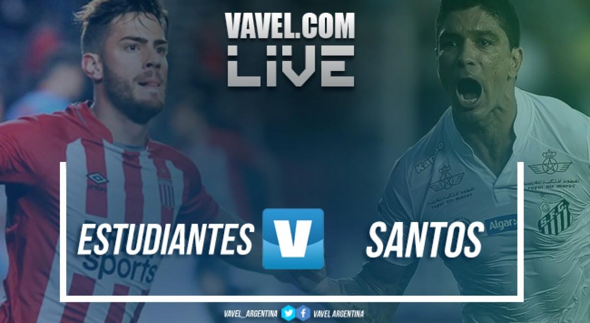 Resumen Estudiantes 0-1 Santos en Copa Libertadores 2018