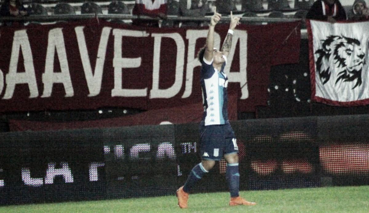 Racing con uno menos gana de visita a Estudiantes en La Plata