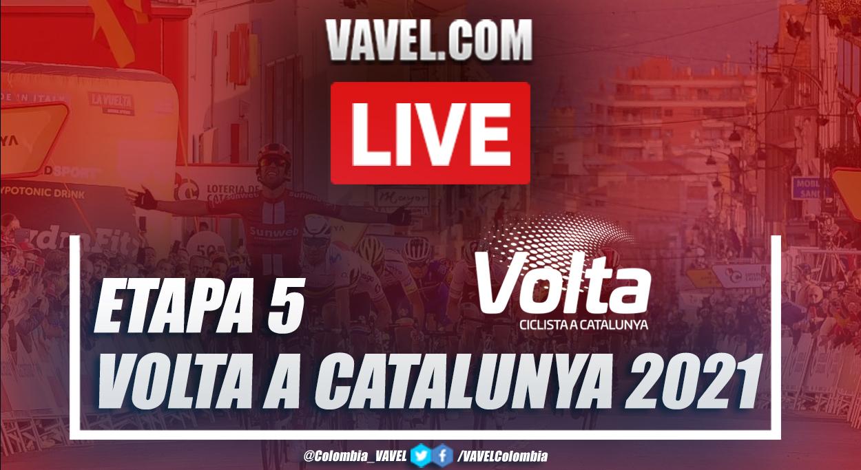 Resumen etapa 5 Volta a Catalunya entre La Pobla de Segur y Manresa 2021