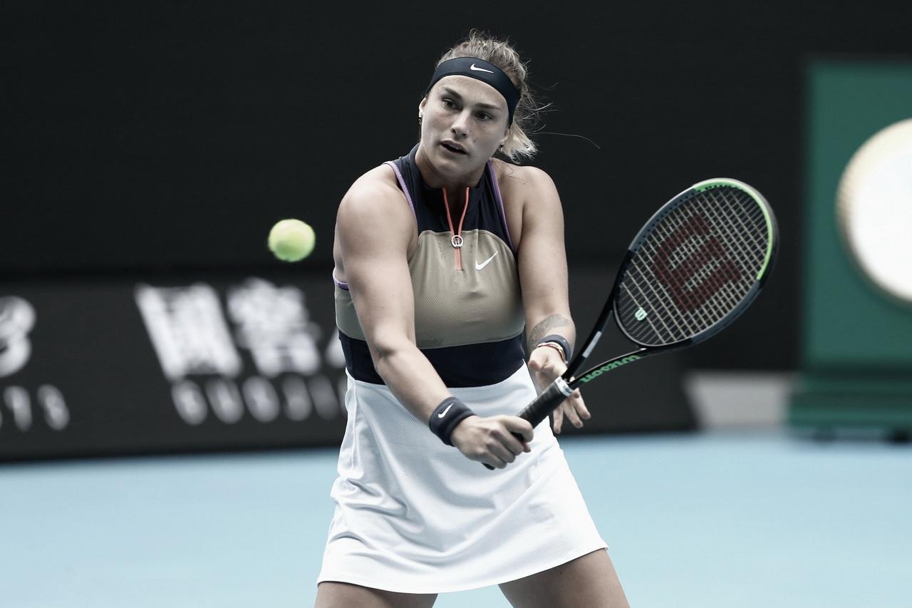 Sabalenka derrota Ann Li em sets diretos e vai à quarta rodada no Australian Open
