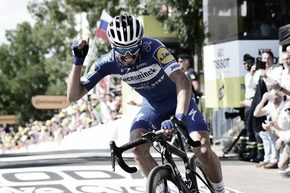 Julian Alaphilippe vence terceira etapa do Tour de France e assume camisa amarela