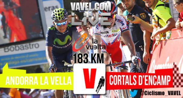 Resultado de la 11ª Etapa de la Vuelta a España 2015 : Andorra La Vella - Cortals d'Encamp