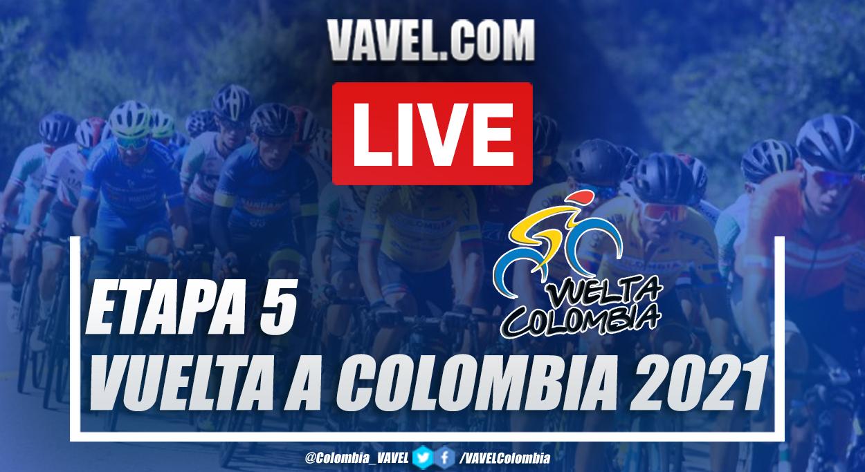 Resumen etapa 5 Vuelta a Colombia: Armenia - Belalcázar