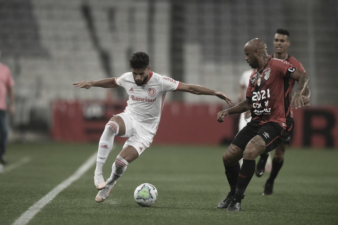 Internacional tem sequência de vitórias encerrada após empate com Athletico
