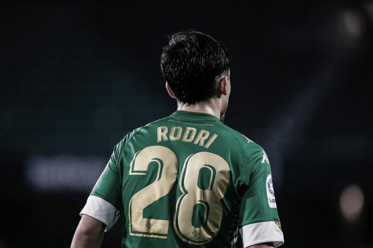 """Rodri: """"Estoy muy a gusto y en plena sintonía con el Betis"""""""