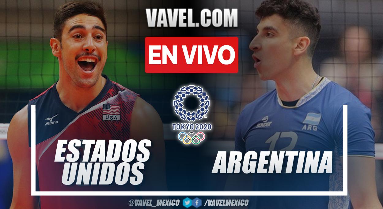 Resumen: Estados Unidos 0-3 Argentina en voleibol de Juegos Olímpicos 2020