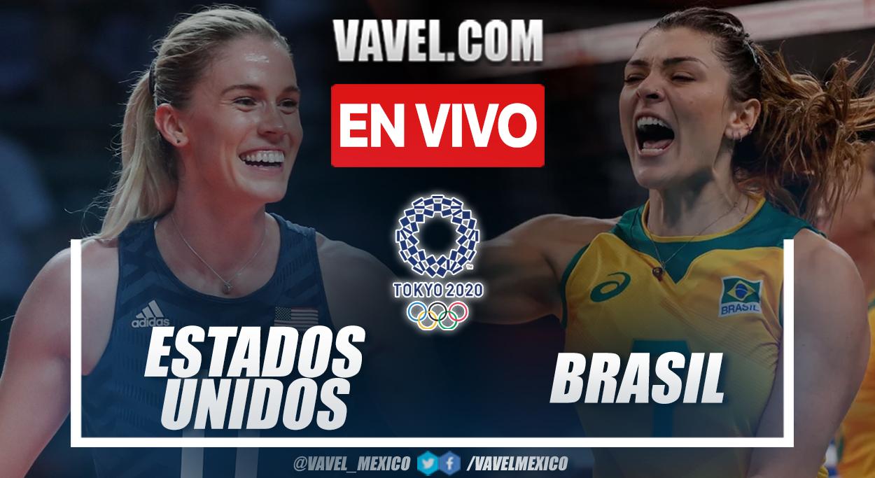 Resumen: Brasil 0-3 Estados Unidos en final de voleibol femenino en Tokio 2020