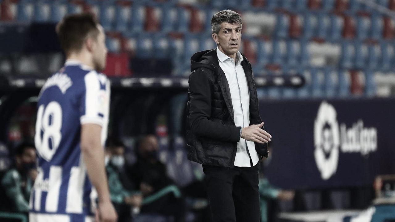 """Imanol Alguacil: """"Tuvimos el 0-2, pero el empate final es justo """""""