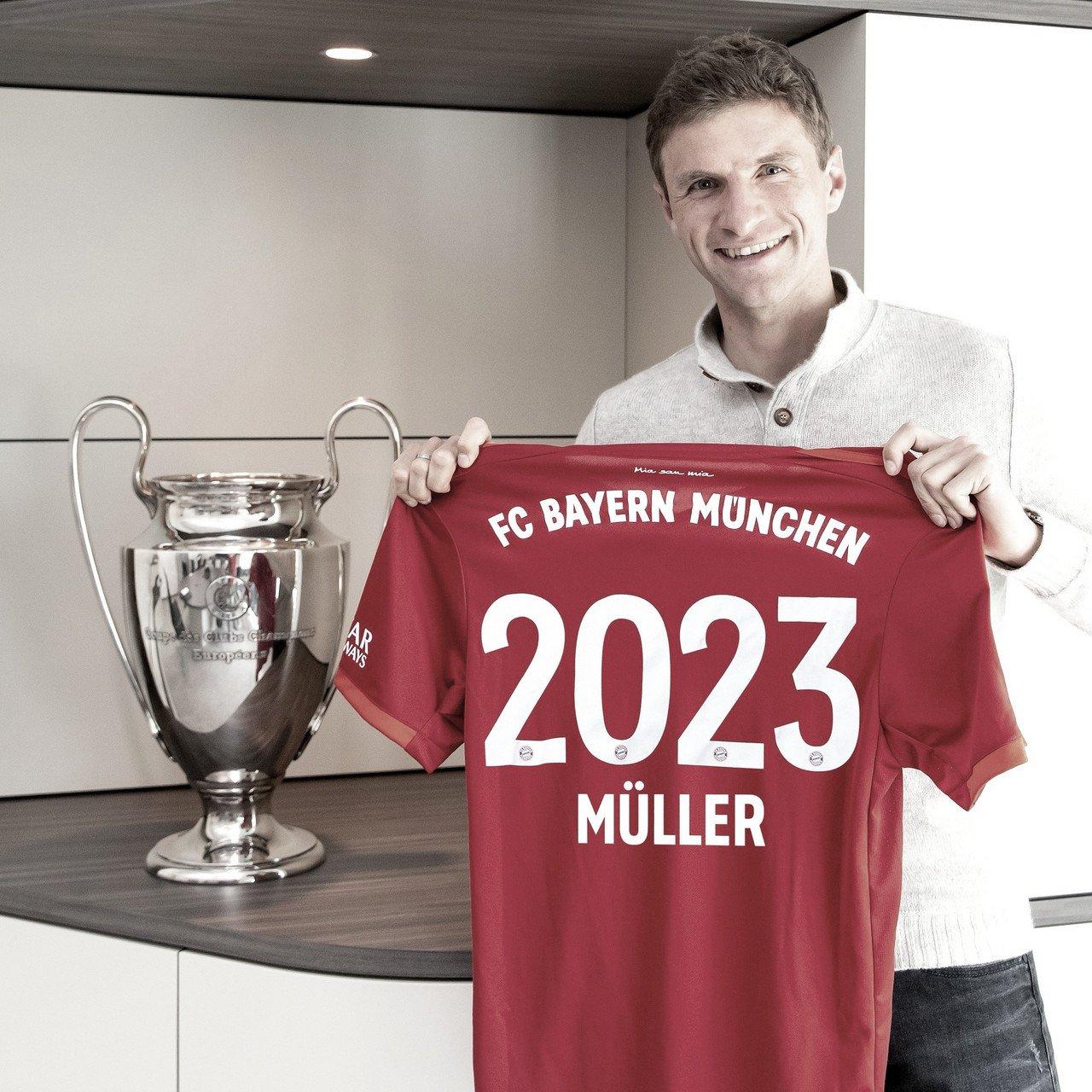 Thomas Müller renueva con el Bayern hasta 2023
