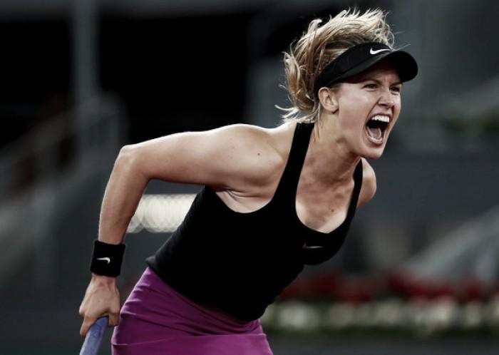 WTA Madrid: Brilliant Bouchard stuns Sharapova in late-night thriller