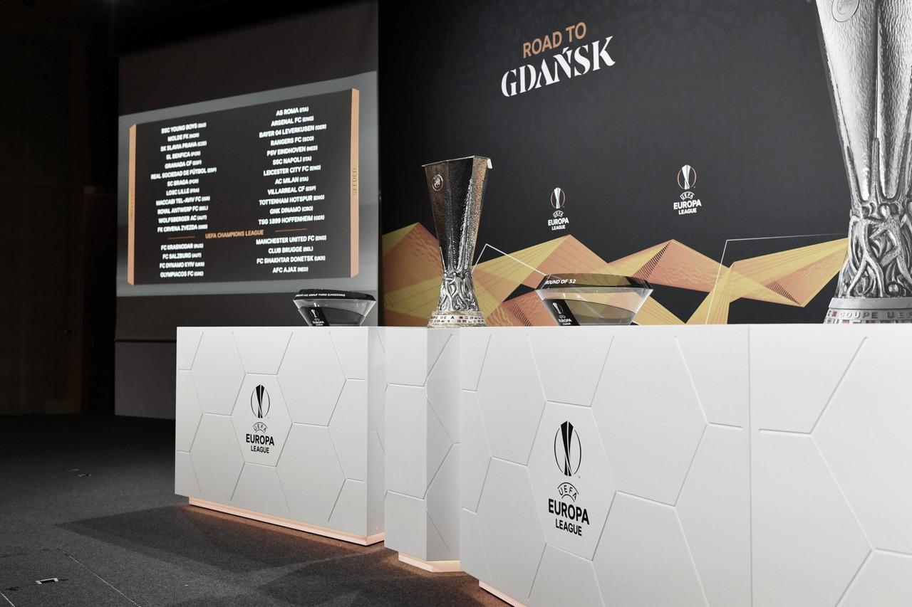 Em sorteio, Uefa define confrontos de 16 avos de final da Europa League