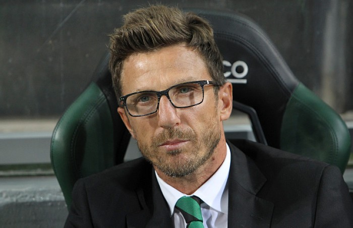 """Torna a parlare Di Francesco: """"Futuro? Penso al Sassuolo"""""""